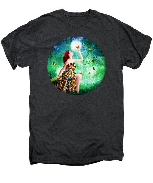 Madam Butterfly Men's Premium T-Shirt by Linda Lees