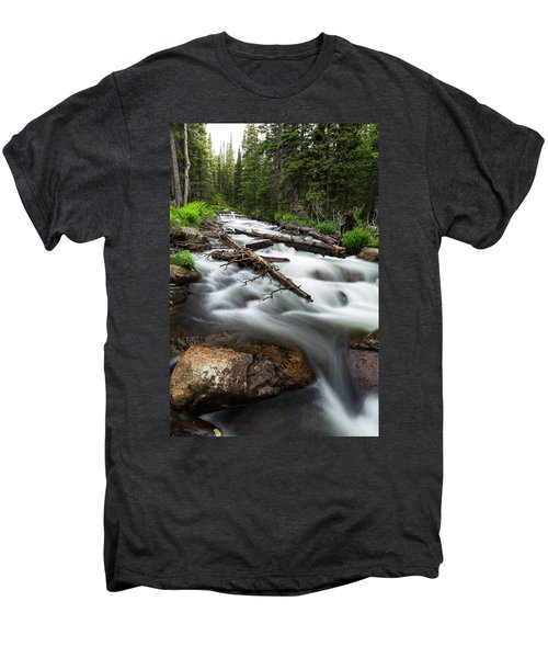 Men's Premium T-Shirt featuring the photograph Magic Mountain Stream by James BO Insogna