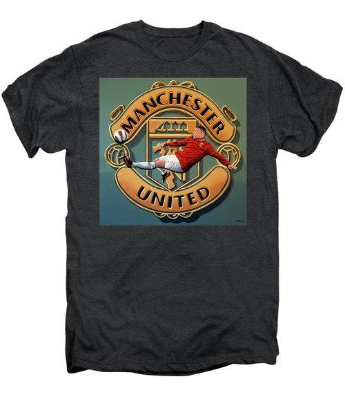 Manchester United Painting Men's Premium T-Shirt by Paul Meijering