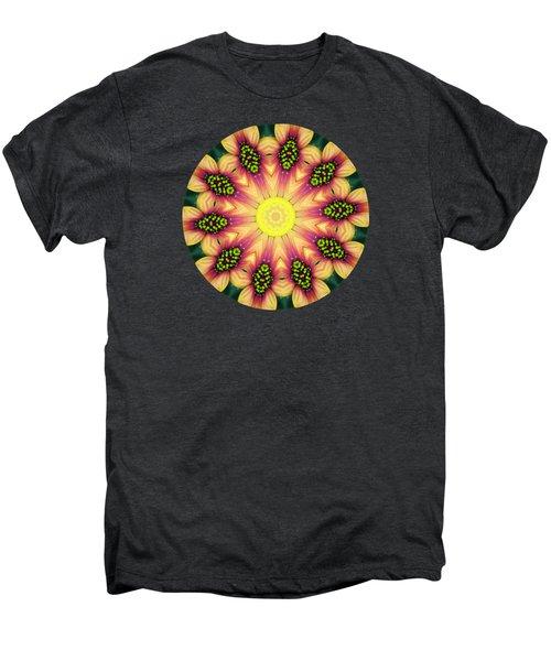 Mandala Yellow Burst Men's Premium T-Shirt by Hao Aiken