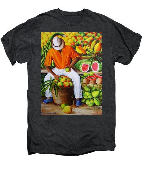 Manuel The Caribbean Fruit Vendor  Men's Premium T-Shirt