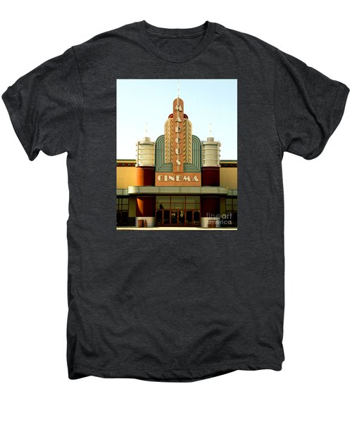 Men's Premium T-Shirt featuring the photograph Marcus Renaissance Cinema, Racine Wisconsin  by Ricky L Jones