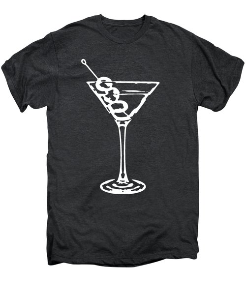 Martini Glass Tee White Men's Premium T-Shirt by Edward Fielding