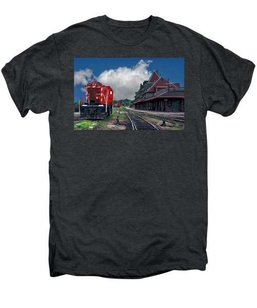 Mcadam Train Station Men's Premium T-Shirt