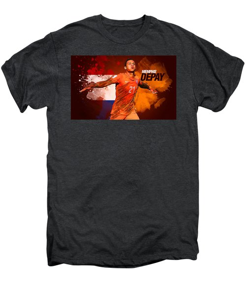 Memphis Depay Men's Premium T-Shirt by Semih Yurdabak