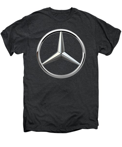 Mercedes-benz - 3d Badge On Black Men's Premium T-Shirt by Serge Averbukh