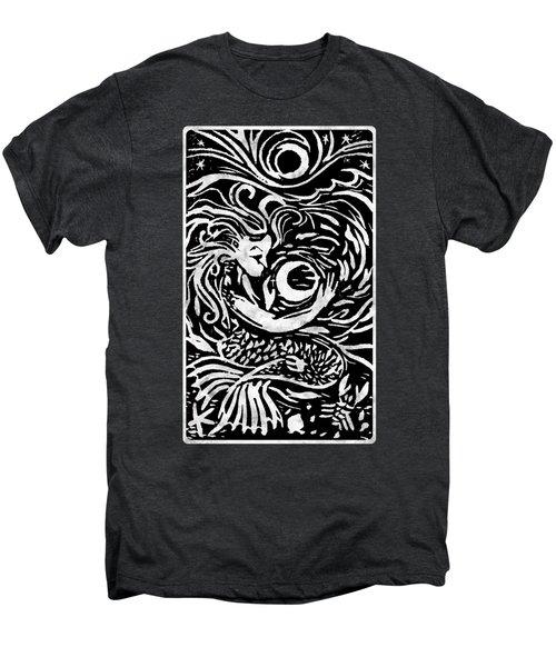 Mermaid Moon Men's Premium T-Shirt by Katherine Nutt