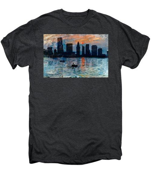 Miami Skyline 7 Men's Premium T-Shirt by Andrew Fare