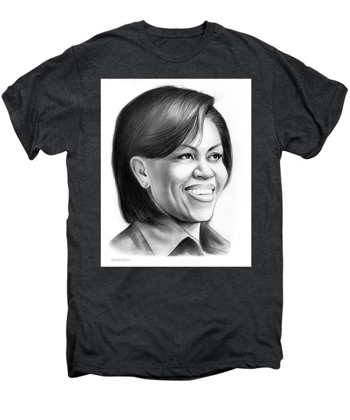 Michelle Obama Men's Premium T-Shirt by Greg Joens
