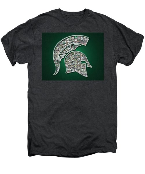 Michigan State Spartans Football Men's Premium T-Shirt by Fairchild Art Studio