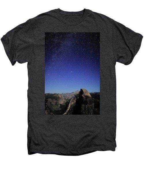 Milky Way Over Half Dome Men's Premium T-Shirt