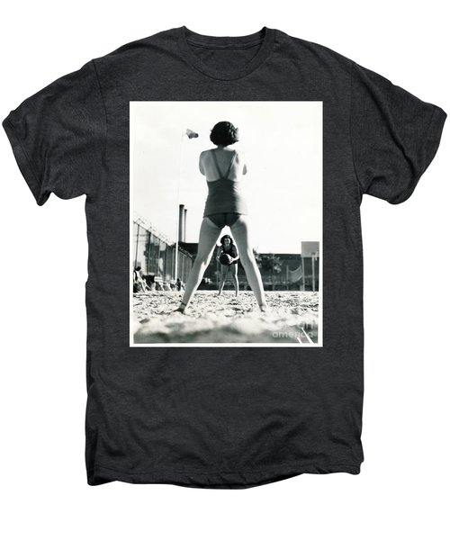 Miramar Pool, 1932 Men's Premium T-Shirt by Cole Thompson