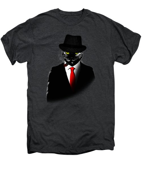 Mobster Cat Men's Premium T-Shirt