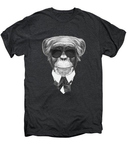 Monkey In Black Men's Premium T-Shirt by Marco Sousa