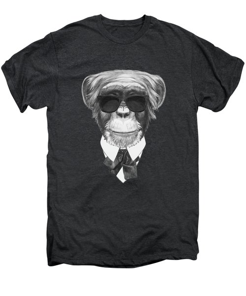Monkey In Black Men's Premium T-Shirt