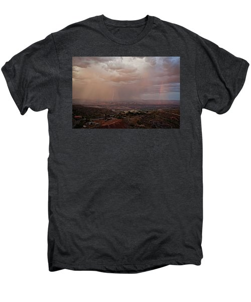 Monsoon Lightning And Rainbow Men's Premium T-Shirt