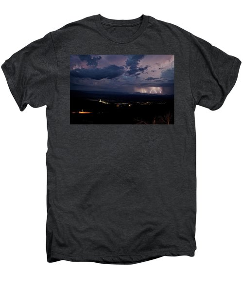 Monsoon Lightning Over Sedona From Jerome Az Men's Premium T-Shirt