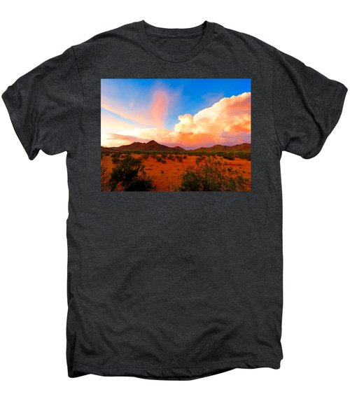Monsoon Storm Sunset Men's Premium T-Shirt