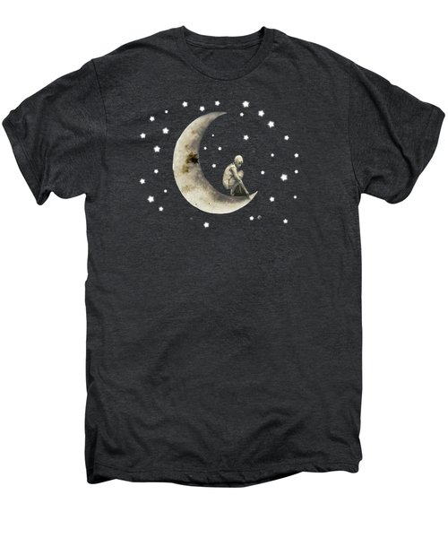 Moon And Stars T Shirt Design Men's Premium T-Shirt by Bellesouth Studio