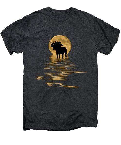 Moose In The Moonlight Men's Premium T-Shirt by Shane Bechler