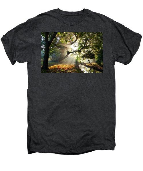 Morning Sunrise In Hampden Park Men's Premium T-Shirt