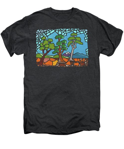 Mosaic Trees Men's Premium T-Shirt by Anthony Mwangi
