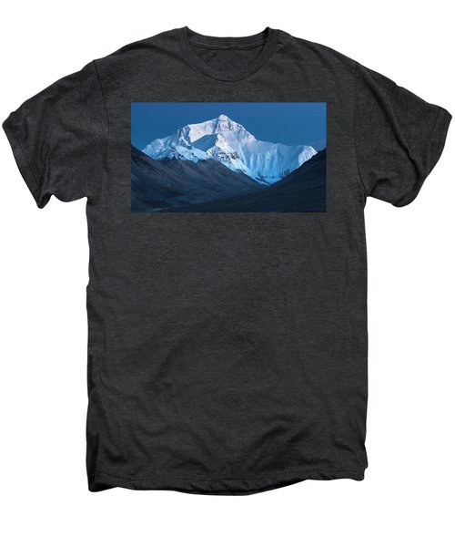 Mount Everest At Blue Hour, Rongbuk, 2007 Men's Premium T-Shirt