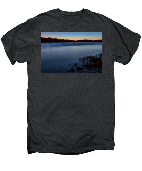 Men's Premium T-Shirt featuring the photograph Mountain Lake Glow by James BO Insogna