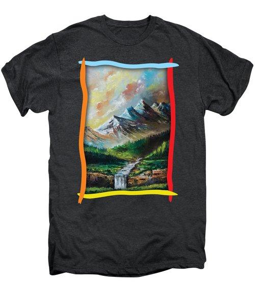 Mountains And Falls Men's Premium T-Shirt