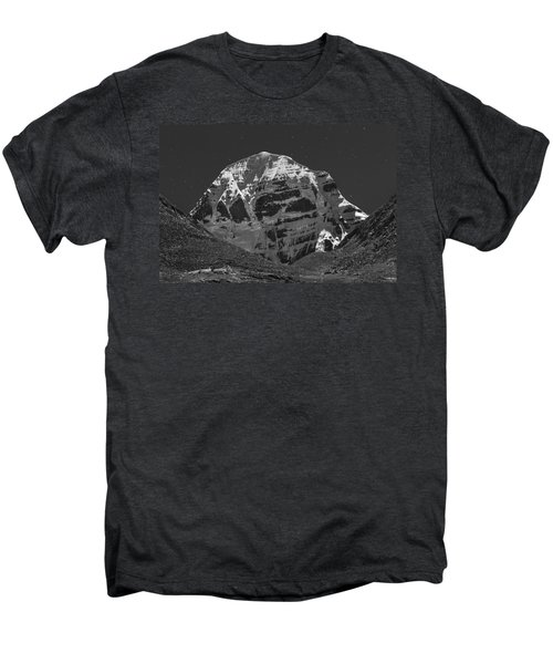 Mt. Kailash In Moonlight Men's Premium T-Shirt