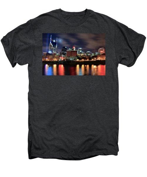 Nashville Skyline Men's Premium T-Shirt by Frozen in Time Fine Art Photography