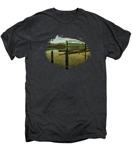 Nehalem Bay Reflections Men's Premium T-Shirt by Thom Zehrfeld