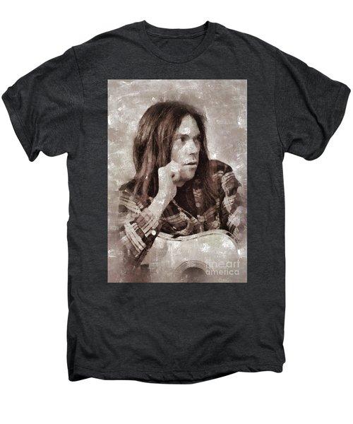 Neil Young By Mary Bassett Men's Premium T-Shirt