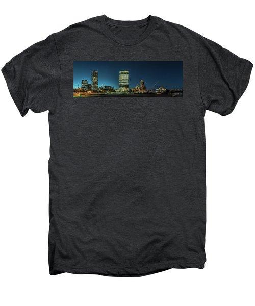 Men's Premium T-Shirt featuring the photograph New Milwaukee Skyline by Randy Scherkenbach