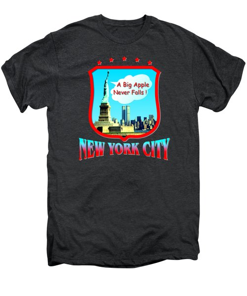 New York City Big Apple - Tshirt Design Men's Premium T-Shirt by Art America Gallery Peter Potter