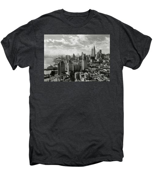 New Your City Skyline Men's Premium T-Shirt by Jon Neidert