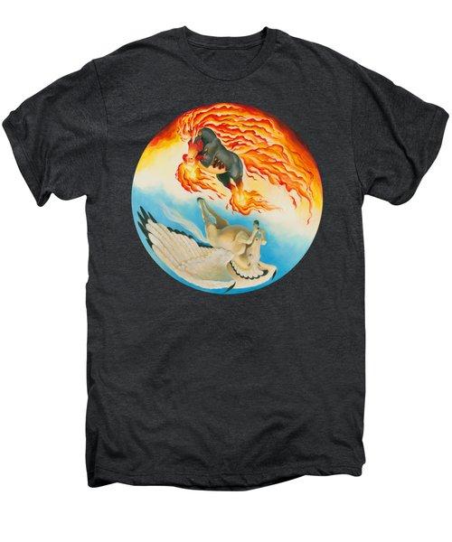 Nightmare And Mesa Pegasus Yin Yang Men's Premium T-Shirt by Melissa A Benson