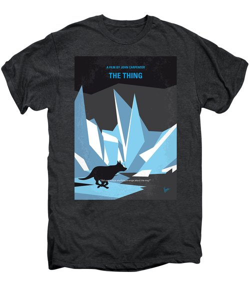 No466 My The Thing Minimal Movie Poster Men's Premium T-Shirt by Chungkong Art