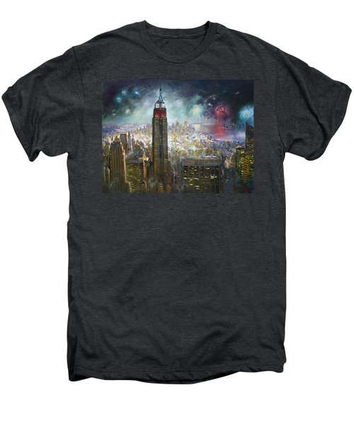 Nyc. Empire State Building Men's Premium T-Shirt by Ylli Haruni