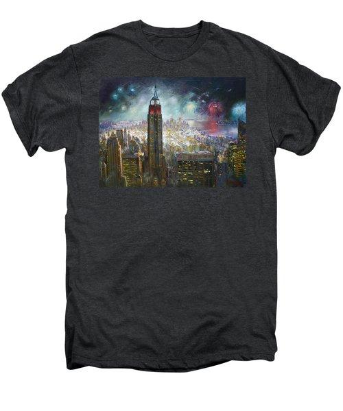 Nyc. Empire State Building Men's Premium T-Shirt by Ylli Haruni