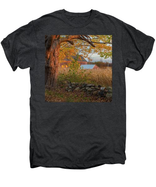 Men's Premium T-Shirt featuring the photograph October Morning 2016 Square by Bill Wakeley
