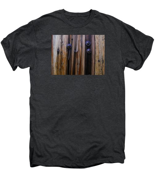 Old Door With Bolts And Nails Men's Premium T-Shirt