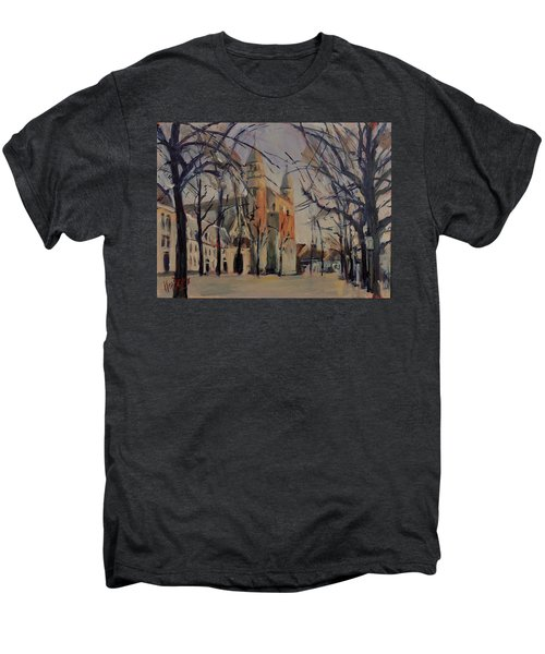 Olv Square On A Sunny Winter Afternoon Men's Premium T-Shirt