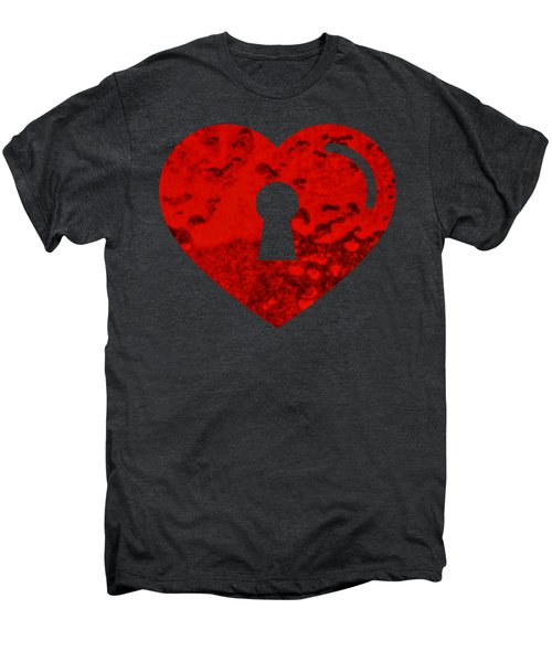 One Heart One Key Men's Premium T-Shirt