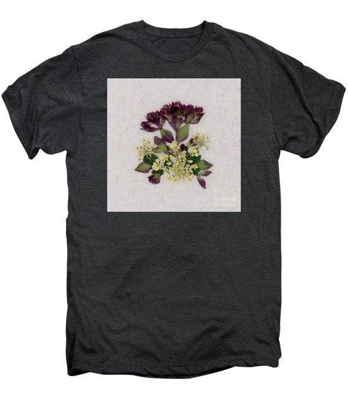 Oregano Florets And Leaves Pressed Flower Design Men's Premium T-Shirt