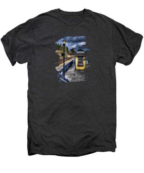 Oregon City Train Depot Men's Premium T-Shirt by Thom Zehrfeld