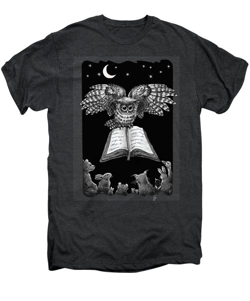 Owl And Friends Blackwhite Men's Premium T-Shirt