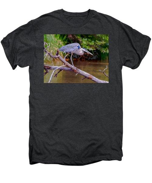 Painting Blue Heron Oak Creek Men's Premium T-Shirt