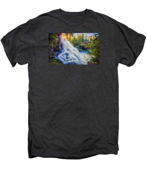 Men's Premium T-Shirt featuring the photograph Partridge Falls In Late Afternoon by Rikk Flohr