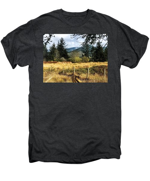 Pasture, Trees, Mountains Sky Men's Premium T-Shirt